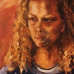 - SOLD - Millie, oil on canvas, 55cm x 65cm