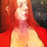 - SOLD -The Madam,  oil on canvas