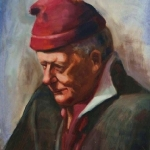 The Red Hat, oil on canvas - featuring in The Artists' Book - celebrating 10 years of Portrait Artists Australia