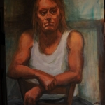 SOLD   The Stand -Over Man, oil on canvas