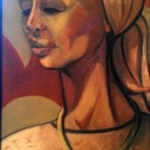 - SOLD - Classic Africa, oil on board, 75cm x 40cm