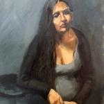 Tatiana's Baby, oil on canvas, 50cm x 65cm