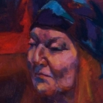 The Colourful Margaret, oil on canvas