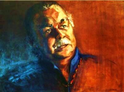 - SOLD -Lloyd McDermott - First Aboriginal Barrister in Australia, oil on canvas