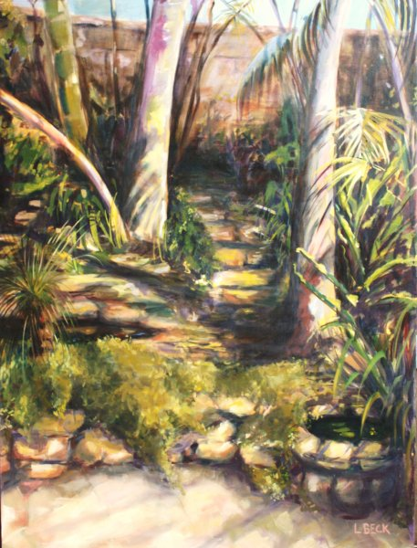 - SOLD - Malcolm\'s Garden , oil on canvas
