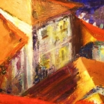 Pirano Rooftops  ,  oil on canvas