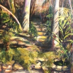 - SOLD - Malcolm's Garden , oil on canvas