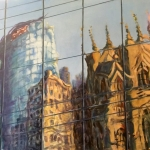 Sydney Glass Scape, oil on canvas, 90cm x 120cm