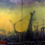 Horses of the Apocalypse, 180cm x 120cm, oil on canvas