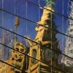 - SOLD -Sydney Clock, oil on canvas, 45cm x 50cm