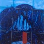 -SOLD-  Bridge Meltdown,  oil on canvas