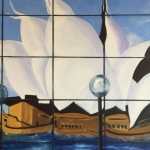 - SOLD -The Opera House Breaks Loose, oil on canvas, 80cm x 120cm