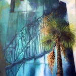 In the Shadow of the Bridge, oil on canvas, 120cm x 90cm