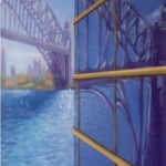 - SOLD - Views of the Bridge, oil on canvas