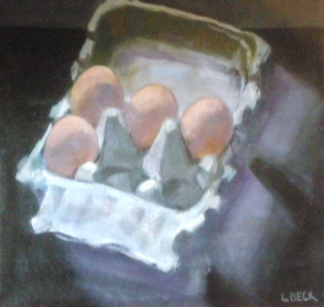 - SOLD  - Cluck Cluck, oil on canvas
