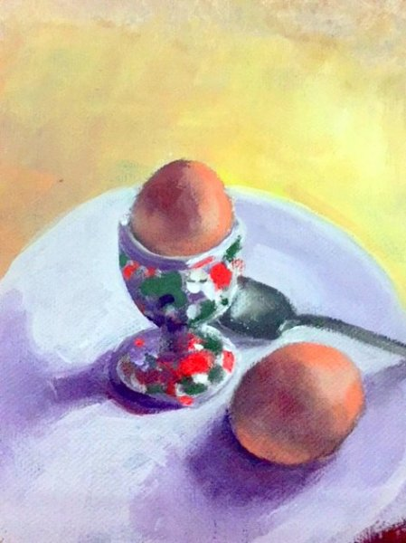 -SOLD - Brekky Time, oil on canvas
