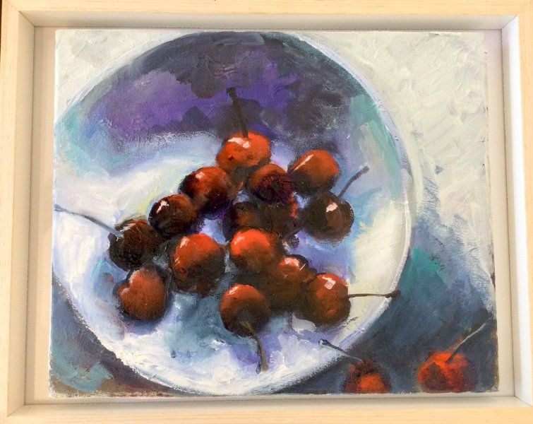 Cherries Galore, 40cm x 50cm, oil on canvas