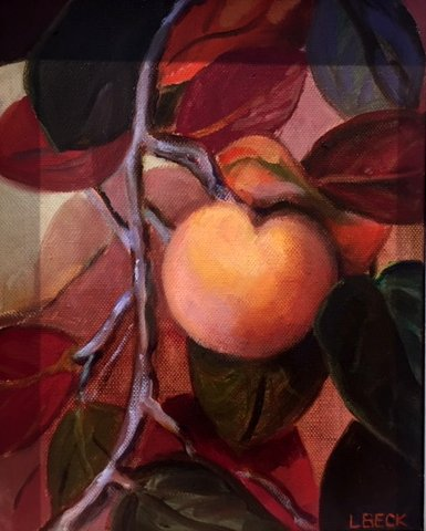 SOLD - the Quince Tree, oil on canvas,20cm x 25cm