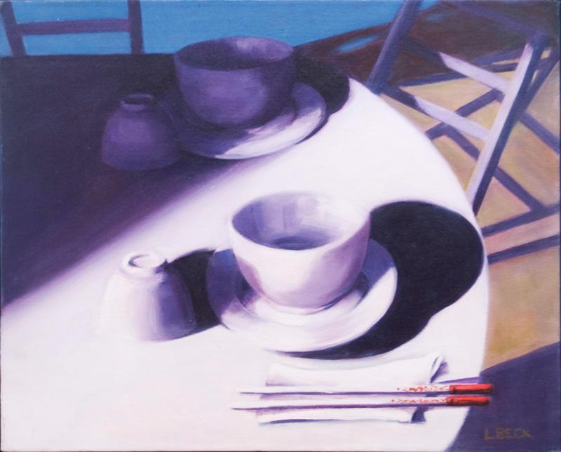 Chopsticks, oil on canvas