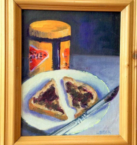 - SOLD - Happy Vegemite, oil on canvas,20cm x 25cm