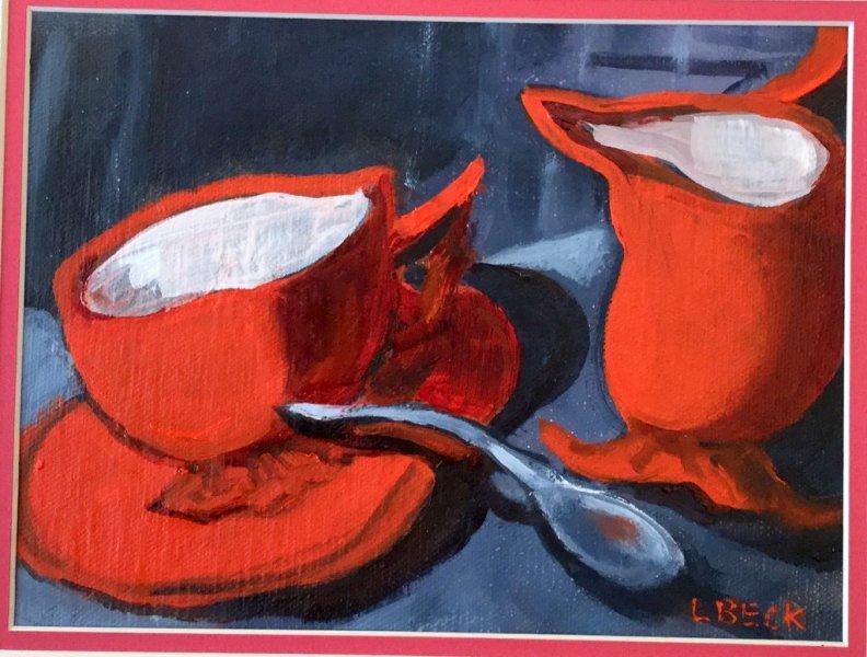 A Splash of Reds,  10cm x 15cm,  $200