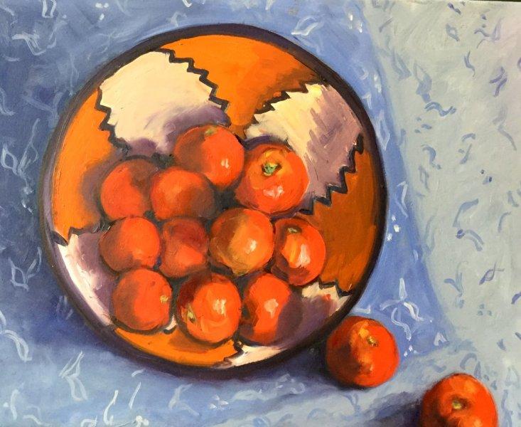 Abundance, oil on canvas, 45cm x 55cm