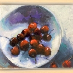 Cherries Galore, 40cm x 50cm, oil on canvas