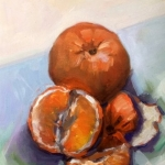 - SOLD -Juicy Orange, oil on canvas, 20cm x 25cm