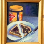 - SOLD - Happy Vegemite, oil on canvas,20cm x 25cm