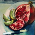 - SOLD- Summer Fruits oil, 80cm x 60cm