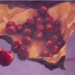 -SOLD - Cherries Ripe, oil on canvas