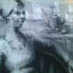 Tea with the Princess, mixed media on w c paper, Highly Commended in 2012 Drummoyne Art Exhibition