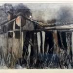 Old Shed Sofala, 65cm x 75cm, $550