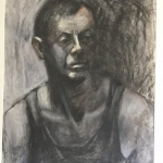 The Worker, charcoal on wc paper